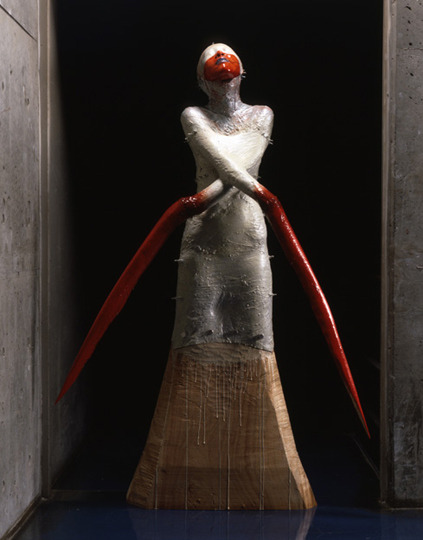 sophieag:  tokyo-fashion:   Koji Tanada, Domination and Submission, 1999 wood, FRP mixed media, luminous paint185x122x50cm   (via iheartmyart)