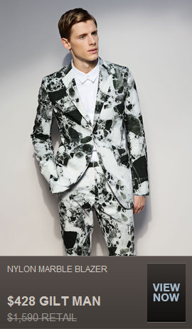 SO BUMMED THEY'RE OUT OF MY SIZE! easily the goofiest thing i've seen on gilt since the bizarre $1500 (discounted price) thom browne men's skirt that was somehow sold out.