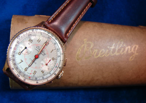 It's On Ebay! 1946 Breitling Chronograph in 18K Gold Damn, this is a beautiful watch. Sitting at $2650, and it's only going up.  Ends tonight.