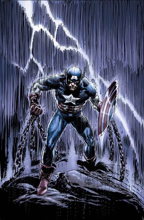 Captain America Reborn #4 by Ed Brubaker, Bryan Hitch and Jackson Guice variant cover art by Joe Kubert