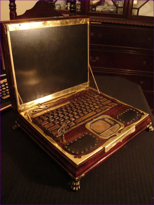 Charmingly paradoxical. obsoletethebook:  If Jules Verne had had a laptop… (via @meghanberes via Datamancer.net)