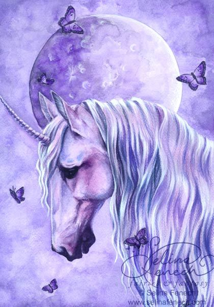 via www.fairiesandfantasy.com Why are you so sad, Unicorn? You're only the most beautiful creature in all of the lands!