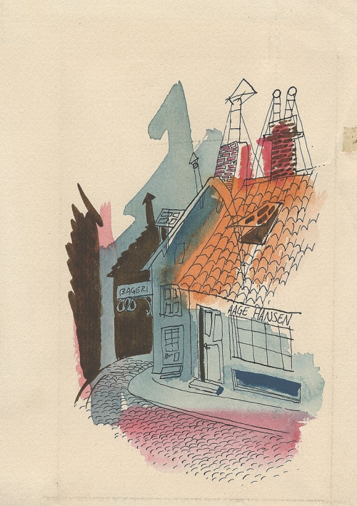 1949 trip to Denmark via peacay John Fischetti Sketches