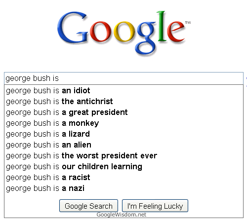 George Bush is… [Submitted by Deep Footprints]