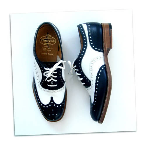 It's On Ebay Church's Spectator Wingtips How great are these Church's spectators?  They'd look great in the summer with a cream-colored suit.  More shoes for your spring lunch on the White House lawn. Starts at $80.99, ends Monday