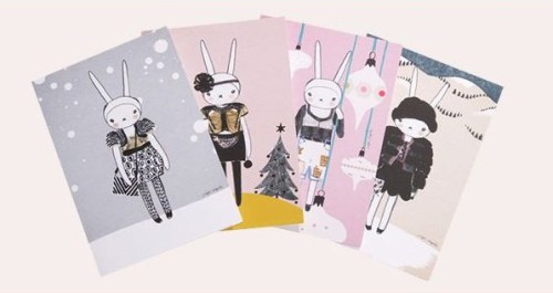 Fifi Lapin Christmas cards for Topshop Prick up your ears and put down your carrots, because this Christmas, we've joined forces with the world's most stylish bunny! Front row at all shows, now Fifi is making an appearance on our Charity Christmas cards, styled up in her favorite bits from our AW collections. (From Topshop.com, click on the photo to visit.)