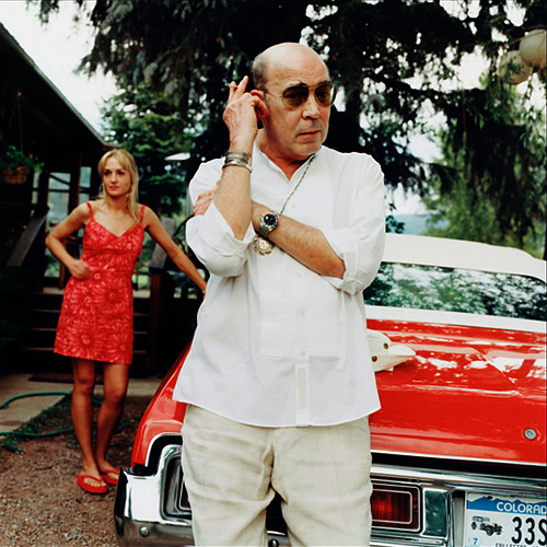 matthewb:  Hunter S. Thompson and Anita Bejmuk photographed in Aspen in 2002 by Jonathan Becker for Vanity Fair. (via Peter Nidzgorski)