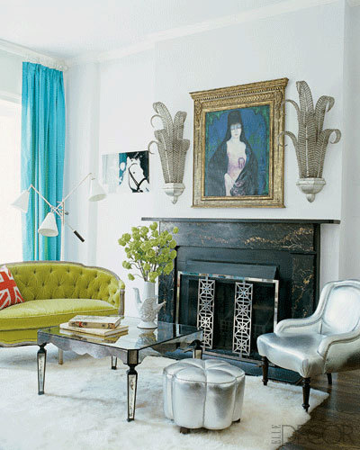 Nanette Lepore's Living Room (decorated by Jonathan Adler) photograph by William Waldron for Elle Decor