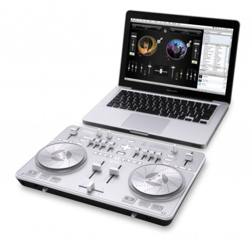 whizhouse:  freshmensalley:  Vestax - Spin & DJ 3.0 Bundle | Available Now Turn your Mac into a full-blow DJ system by adding Vestax Spin to your computer and tapping into your iTunes Library. The Vestax Spin & DJ 3.0 Bundle is a set of hardware and software package which enables one to enjoy the full DJ experience on your computer. The Spin is a set of turntables and mixer that allows one to scratch, blend, mix and bend your tunes a la a professional DJ. Other than the standard turntable and mixer, Spin also comes with a touch sensor jog wheel which gives the user a high resolution analog feel when scratching and mixing; a multi-audio channel system for high quality monitoring. Of course, with the system, the user can save his or her creation easily onto the computer and incorporate it into a podcast, slide show or movie with the click of a button. For those looking to get into DJing, this would be an interesting alternative to consider aside from the traditional DJ set up.  And the all important price question? $250. Half the price of a Serato box. Cheaper than that silly pacemaker portable DJ tool. More legit than those ipod DJ docks. This looks decent. I can't wait to see some reviews. It's not perfect, but could make the random house party a lot of fun. Since it runs of itunes I wonder if the airport wireless play would work.