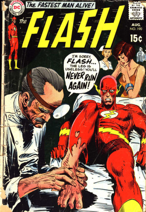 The Flash #190 cover art by Joe Kubert