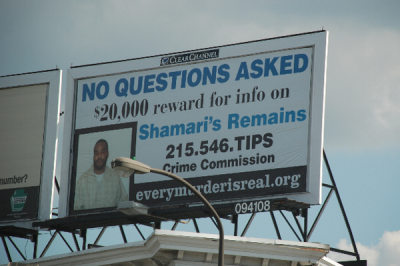 USA (Philadelphia) - '$20,000 reward for info on Shamari's Remains'
