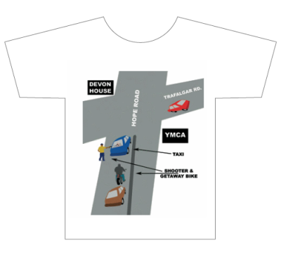 Jamaica - 'Shot in Traffic' T-shirt concept