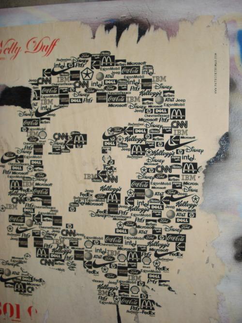 Thumb Poster del Ché Guevara formado por logotipos del Capitalismo