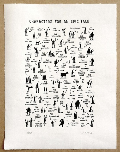 Tom Gauld - Characters for an Epic Tale (via Diskursdisko)