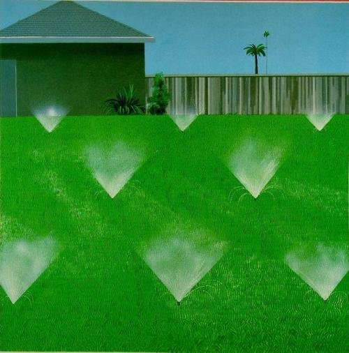 David Hockney - A Lawn Being Sprinkled, 1967