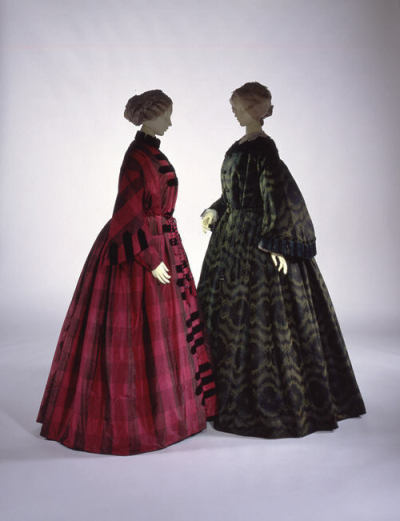 Two wonderful dressing gowns from the mid-1850s. At the Metropolitan Museum.