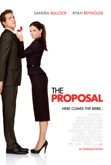 The Proposal, 2009. Starring Sandra Bullock, Ryan Reynolds, Mary Steenburgen, Craig T. Nelson,  Malin Akerman, Betty White. (Director: Anne Fletcher)——————————————————————-Plot: When she learns that she's in danger of losing her visa status and being deported back to her native Canada, overbearing book editor Margaret Tate (Bullock) forces her put-upon assistant, Andrew Paxton (Reynolds), to marry her. Directed by Anne Fletcher, this romantic comedy also stars Craig T. Nelson and Mary Steenburgen as Andrew's parents, Joe and Grace, and Betty White as the outspoken Grandma Annie.