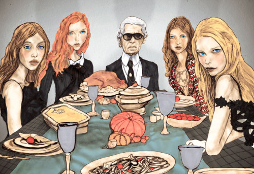 Karl Lagerfeld Thanksgiving Table