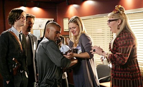 """What's he doing? He's smiling at Derek Morgan."""
