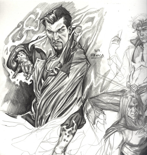 Dr. Strange warm up sketch by Chase Conley