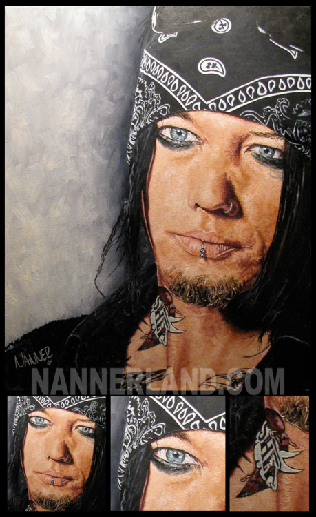 Portrait I did of the artist DJ Ashba Oil on Canvas more at www.nannerland.com