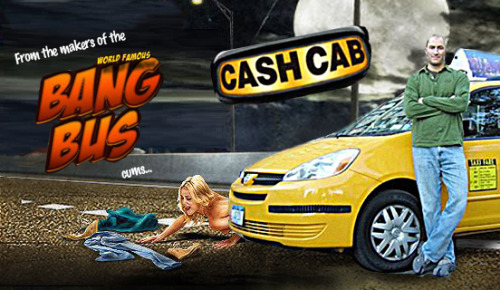 "sandboxwarrior:  I want to meet the executive that let the name, ""Cash Cab"" fly.  Don't get me wrong.  I love this show.  Nothing gives me that satisfying smugness like telling my TV how much better I am at the Cash Cab than the current contestants.  But let's be honest:  It sounds like a porn.  Nice photoshop."