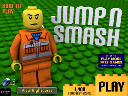 LEGO Jump 'n Smash Flash game