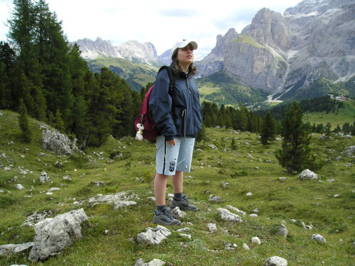Me, some years ago, looking at the Alpi, in Trentino.