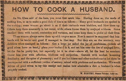 Fuck the metaphors, let's get cookin', ladies! :) (via the Wellcome Library)