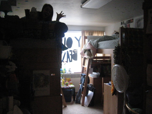 [i used to live here [a dorm room at kent state university]. m. olson. march 19, 2006.]