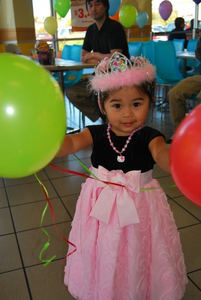 My little cousin's 2nd birthday! HK Necklace (and hair clips although you can't really see it.)  Submitted by ojram