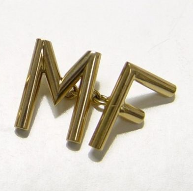 "It's On Ebay ""MF"" Cufflinks by Cartier He's a bad… Starting at $480, end Thursday"