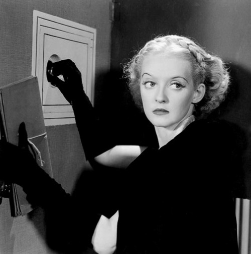 "Bette Davis inFog Over Frisco (1934, dir. William Dieterle) ""Now darling, don't start moralizing."""