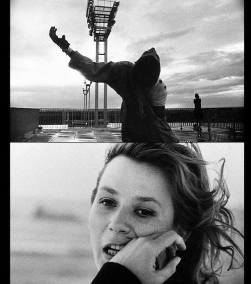 "R.I.P. Chris Marker oldhollywood:  La Jetée (1962, dir. Chris Marker) ""La Jetee's fans insist that it's the finest science fiction film ever made, and why not? It's truly unique, implementing a series of hundreds of unmoving pictures, beautifully edited together to tell a mind-bending story of time travel that doubles as a melancholy fable about memory, loss, childhood, and destiny. Only for a moment is there any action on screen (besides the implied action in the cuts from shot to shot), and that motion is one of the cinema's most profound. It's no exaggeration, finally, to say that La Jetée may represent film's closest approach to poetry."" -Bryant Frazer, Deep Focus The 26-minute film, which inspired Terry Gilliam's 12 Monkeys (1995), tells the story of post-apocalyptic, nuclear war-ravaged Paris, where underground commanders run time travel experiments on prisoners. The film can be seen here."