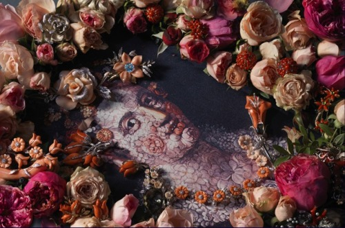 Arcimboldo and jewelry and flowers