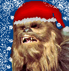 Click the image to hear Chewie sing dbsw:  Chewbacca sings a holiday classic.