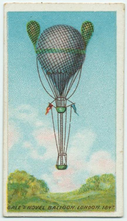 "Look up! It's Lieutenant Gale's double-basket naval balloon, London 1847: ""It was one of the most perilous descents in [the] annals of aeronautics."""