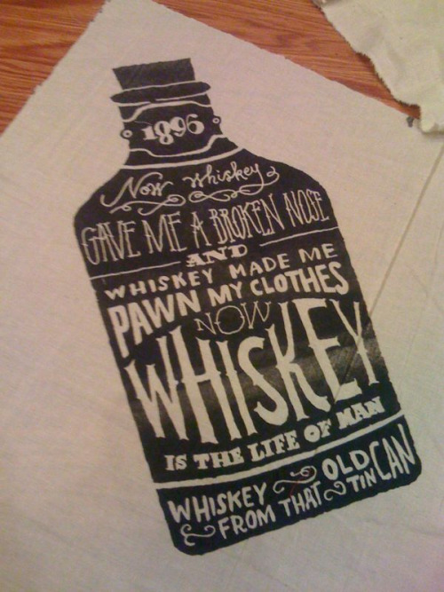 whiskey jug illustration, typography, by Jon Contino // joncontino