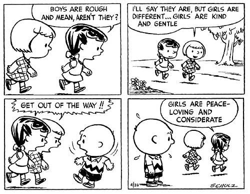 early Peanuts. Charlie Brown, Patty and Violet.