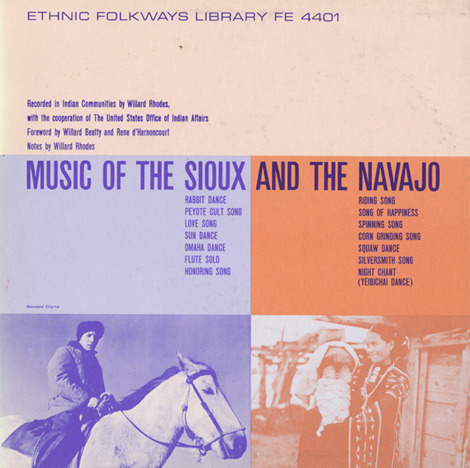 Album Cover: Music of the Sioux and the Navajo.