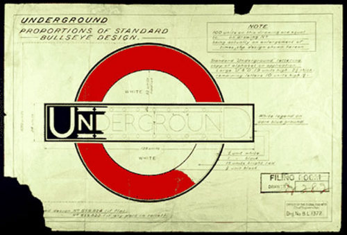 Typeface changes in the London Underground.