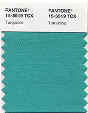 in case you haven't seen this a gazillion times: pantone's color for the year 2010, pantone 15-5519 turquoise. via