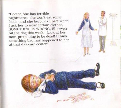 Don't Make Me Go Back, Mommy: a child's book about satanic ritual abuse Sanford & Evans 1990  Awful Library Books