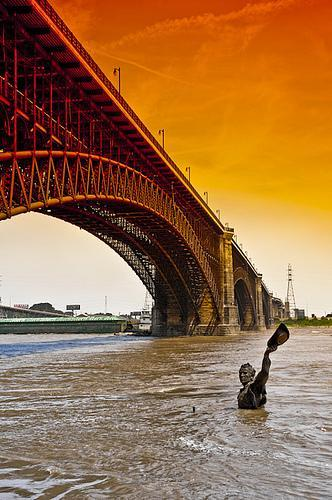 Eads Bridge over Mississippi River - St. Louis