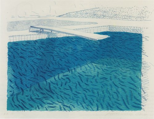 metempsicosis:  David Hockney swimming pool lithograph, 1980