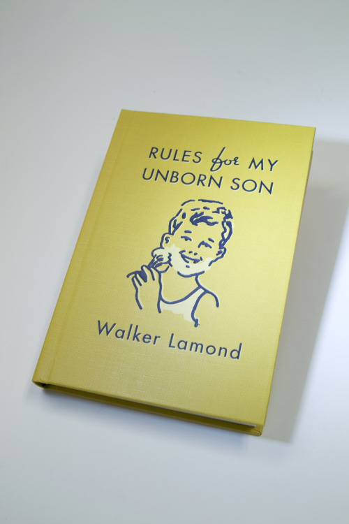 Rules for My Unborn Son Available NOW