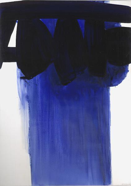 Peinture, 202x143 (Pierre Soulages) via artmatters-6 November 1967, Oil on canvas I have a poster of this in my room, from the NGV. He's one of my favourite artists. :)