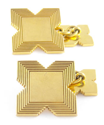 It's On Ebay Gold Garrard Cufflinks Garrard have been continuously operating since 1735 - they are the jeweller to a certain Ms. Queen of England.  These are great links, too. Starting at about $75, ends early Saturday