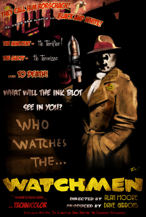 Rorschach -Watchmen Film Noir poster by Timothy Lim