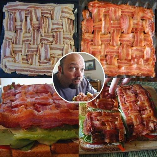 Bacon-Weave BLT via foodheaven NICE!